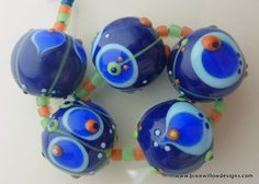 NEVER ENOUGH Lampwork bead set by Pixie Willow Designs