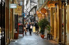 "Located in the 6th district of Paris, close to Odeon Metro station in the Saint-Germain-Des-Prés neighbourhood, the passage ""cours du commerce Saint-André"" (Saint-Andre's Trade Courtyard in english) was opened in 1735. The reason behind this name is the fact that many picturesque boutiques are present alongside the passage."