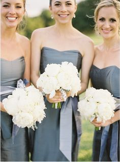Bridesmaid Dress Styles   Jose Villa   Grey Metallic