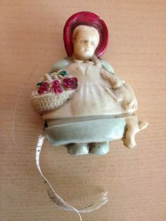 Vintage Celluloid Figural Sewing Tape Measure