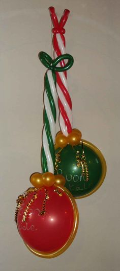 A different version of Christmas baubles - made entirely with balloons!