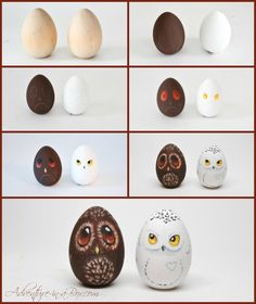 Turn your Easter eggs into a bunch of cute owls and give them as Easter gifts this year! A good craft for children and adults to enjoy.
