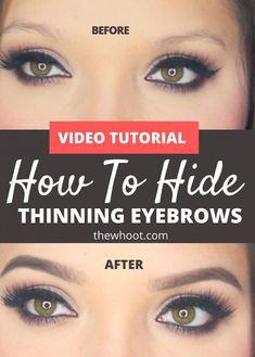 Big Eyebrows, Sparse Eyebrows, How To Draw Eyebrows, Natural Eyebrows, Eye Brows, Eyebrow Makeup Tips, Beauty Makeup, Eye Makeup, Hair Makeup