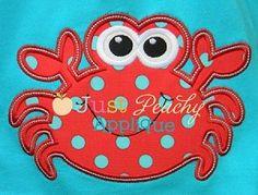 Crab 2 Applique Design