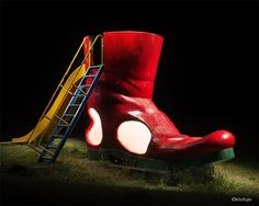 Kito Fujio's Dramatic Photos of Japanese Playgrounds At Night Night Street Photography, Art Photography, Nocturne, Dramatic Photos, Light Painting, Rubber Rain Boots, Sculptures, Japanese, Black And White