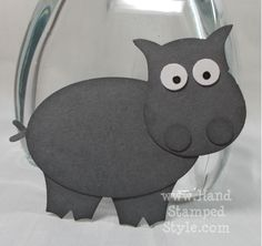 Owl Punch Art Hippo- www.HandStampedStyle.com