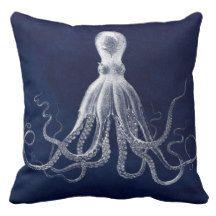 """""""Nautical/Octopus"""" THROW PILLOW"""