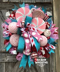 Your place to buy and sell all things handmade - Holiday wreaths christmas,Holiday crafts for kids to make,Holiday cookies christmas, Candy Land Christmas, Merry Christmas Banner, Christmas Mesh Wreaths, Christmas Swags, Christmas Time, Christmas Crafts, Christmas Ornaments, Retro Christmas Decorations, Holiday Decor