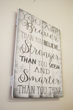 You Are Braver Than You Believe Pallet Sign Winnie The Pooh