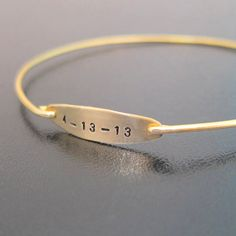 Personalized Birth Date Bracelet Mom's Baby by FrostedWillow