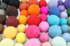 100 felted balls Multicolor and Multi size by Naturalwoolsupplies, $27.00