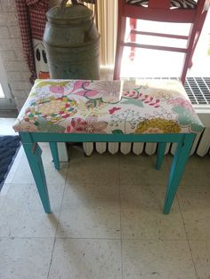 Piano bench seat reupholstered and painted with Shabby paints jewel clear vax and.lightly & red velvet piano stool....I do need to reupholster my piano bench ... islam-shia.org