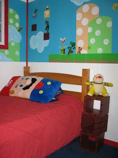 project decorate a mario bedroom