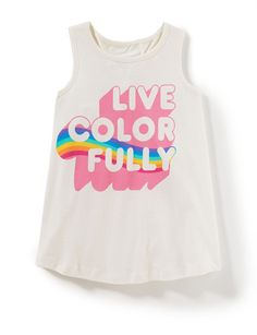 Live Colorfully Tank - Shop All New Arrivals - Categories - new arrivals | Peek Kids Clothing