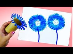 Mothers Day Crafts For Kids Preschool Spring Crafts For Kids, Easter Crafts For Kids, Summer Crafts, Art For Kids, Easy Painting For Kids, Painting Crafts Kids, Crafts For Children, Crafts With Kids, Easy Painting Projects