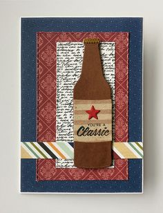 Tag card drink beer bottle MFT soda pop bottles Die-namics MFT-764,  MFT Soda Pop stamp set #mftstamps  Echo Park Getaway paper pad - JKE