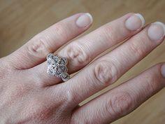 Antique Art Deco Gold Diamond Pave Engagement Ring by PenelliBelle, $299.00