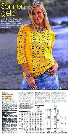 Crochet Cardigan Pattern, Crochet Blouse, Knit Crochet, Crochet Patterns, Fillet Crochet, Crochet Chart, Cool Sweaters, Crochet Fashion, Beautiful Crochet