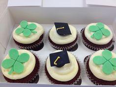 Graduation/good luck red velvet cupcakes
