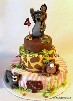 The Jungle Book Cake (Auguri Andrea) Cupcakes, Cupcake Cakes, Gorgeous Cakes, Amazing Cakes, Movie Cakes, Jungle Cake, Book Cakes, Gateaux Cake, Character Cakes