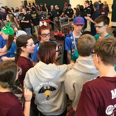 Strategizing before our match. #wearene #omgrobots #frc5902 #firststeamworks
