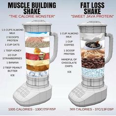 🔥 MUSCLE BUILDING vs FAT LOSS 🔥 ⠀ I touched on Protein Shakes in a post last week, but this is a really great visual by showing just how easy it is to tailor a Shake to fit your daily health goals. ⠀ Shakes are not needed BUT they Healthy Weight Gain, Quick Weight Loss Tips, How To Lose Weight Fast, Losing Weight, Weight Gain Meals, Reduce Weight, Weight Gain Plan, Lose Fat, Rapid Weight Loss