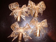 """The 12 Gauges of Christmas """"Feisty Angel"""" ornaments made with recycled 12 gauge shotgun shells."""