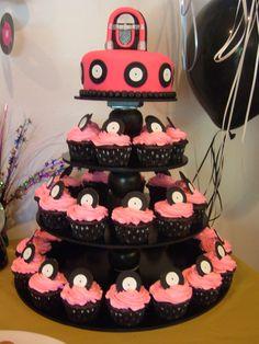 50's cake & cupcakes.