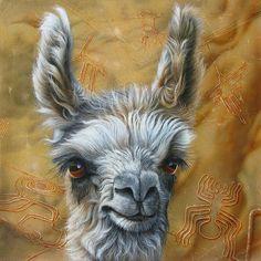 Llama Baby Painting by Jurek Zamoyski - Llama Baby Fine Art Prints and Posters for Sale
