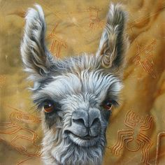 Llama Baby Painting by Jurek Zamoyski - Llama Baby Fine Art Prints and Posters for Sale