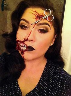 This is a great simple, yet effective Halloween face for you to think about.