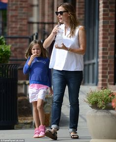 Mother-daughter day: Jennifer Garner was spotted taking Seraphina to breakfast in Atlanta,...