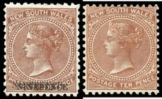NEW SOUTH WALES - 1882-97 Wmk '40' 'NINEPENCE' on 10d brown Perf 11x12 with Double Overprint SG 236dca, and 1899… / MAD on Collections - Browse and find over 10,000 categories of collectables from around the world - antiques, stamps, coins, memorabilia, art, bottles, jewellery, furniture, medals, toys and more at madoncollections.com. Free to view - Free to Register - Visit today. #Stamps #MADonCollections #MADonC Albino, South Wales, Bottles, Mad, Stamps, Coins, The Past, Auction, Collections