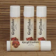 Gryffindor Butterbeer Harry Potter Lip Balm - Handmade Lip Balm - Homemade Lip Balm - Gryffindor Lip Balm by CherryPitCrafts on Etsy