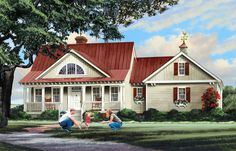 <!-- Generated by XStandard version 3.0.0.0 on 2016-02-02T17:02:30 --><ul><li>Details can make or break a home and this lovely Cottage house plan comes beautifully detailed inside and out.</li><li>Start with the lovely red metal roof and triple arched windows in the center gable that make the home a real standout.</li><li>Interior columns, built-ins that flank the great room fireplace and a graceful bay in the breakfast nook are thoughtful interior details.</li><li>The big porch in back is…