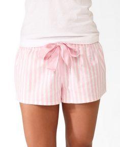 Striped Shorts PJ Set $11.06 (Forever 21)