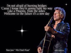 "Bon Jovi-Lyrics ""We Don't Run"""