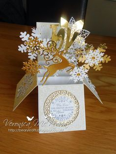 Folds flat for posting            Hello crafty friends, every year I look for a new design idea for my Christmas cards and this time I'...