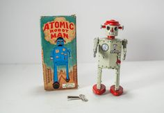 Vintage Schylling Atomic Robot Man Wind Up by PickingPittsburgh