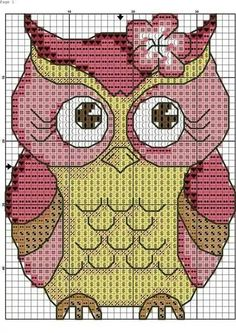 Cross stitch pretty owl