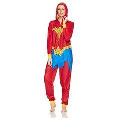 Wonder Woman Movie Adult Womens Onesie - 397563 | trendyhalloween.com Wonder Woman Movie, Wonder Woman Logo, Easy Costumes, Super Hero Costumes, Career Costumes, Bride Of Frankenstein Costume, Bride Costume, Trendy Halloween, Adulting