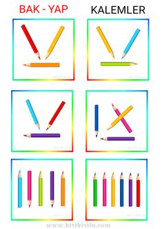 Art Therapy Activities, Preschool Learning Activities, Preschool Math, Kindergarten Math, Color Worksheets For Preschool, Math Worksheets, Indoor Games For Toddlers, Visual Perception Activities, Teacher Cartoon