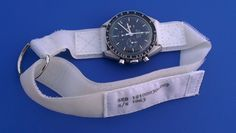 Replica of the white NASA Velcro watch strap for the Omega Speedmaster based on NASA blueprint configuration using materials with the same look and feel as originally specified. Speedmaster Professional, Core Collection, Omega Speedmaster, Velcro Straps, Designs To Draw, Nasa, Watch Bands, Watches, Stuff To Buy