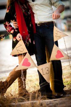 Save the date burlap banner, heart burlap garland, Valentines day wedding ideas #2014 Valentines day wedding #Summer wedding ideas www.dreamyweddingideas.com