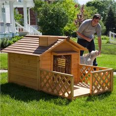 Dream dog houses on pinterest dog houses large dogs and dog beds - Luxury outdoor dog houses ...