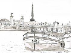 Paris la Seine - Pont Alexandre III