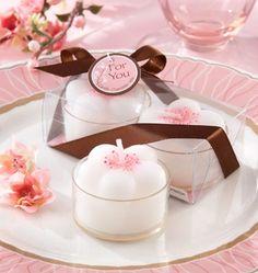 Cherry Blossoms Flower Tea Lights Favors