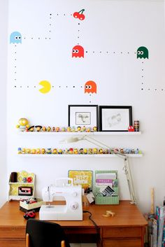 Pacman wall, cool for kids playroom?!