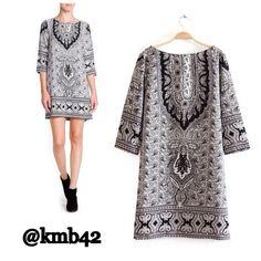 "Spotted while shopping on Poshmark: ""BLACK & WHITE PAISLEY TUNIC DRESS""! #poshmark #fashion #shopping #style #Chic Boutique #Dresses & Skirts"