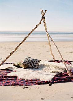 beach tipi
